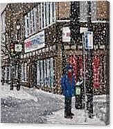 A Snowy Day On Wellington Canvas Print
