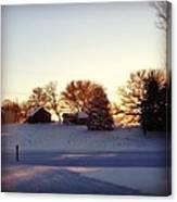 A Snowy Morning Canvas Print