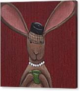 A Sophisticated Bunny Canvas Print