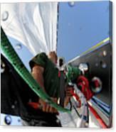 A Spanish Racing Yacht Trains Canvas Print