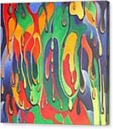 A Splash Of Paint Canvas Print
