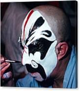 A Spooky Kabuki Canvas Print