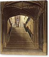 A Staircase, Windsor Castle, From Royal Canvas Print