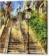 A Stairway In Montmartre Canvas Print