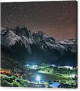 A Starry Night In Laigu Village, Tibet Canvas Print