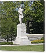 A Statue Of Colonel Thayer Canvas Print
