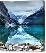 A Still Day At Lake Louise Canvas Print