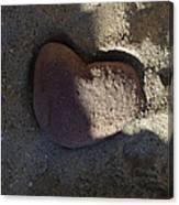 A Stone Heart Canvas Print