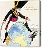 A Stoppage To A Stride Over The Globe, 1803 Litho Canvas Print