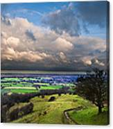A Storm Over English Countryside With Dramatic Cloud Formations  Canvas Print