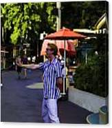 A Street Entertainer In The Hollywood Section Of Universal Studios Canvas Print