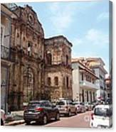 A Street In The Old Quarter. Canvas Print