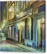 A Street With The Local Inn Canvas Print