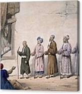 A String Of Blind Beggars, Cabul, 1843 Canvas Print
