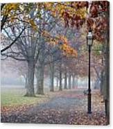 A Stroll In Salem Fog Canvas Print