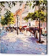 A Stroll On Stephens Green Canvas Print