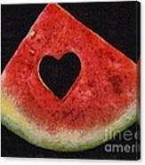 A Summer Valentine's Day Canvas Print