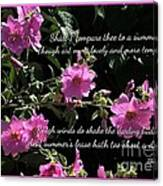 A Summer's Day Pink Romance Canvas Print