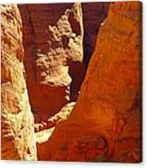 A Sun Soaked Dry Gulch Canvas Print