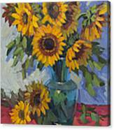 A Sunflower Day Canvas Print