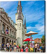 A Sunny Afternoon In Jackson Square Canvas Print