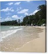 A Sunny Day On Nai Yang Beach Phuket Island Thailand Canvas Print