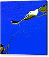 A Surf Fisherman Canvas Print
