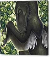 A Suspicious Deinonychus Antirrhopus Canvas Print