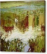 A Swan's Lake Canvas Print