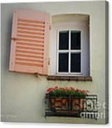 A Sweet Shuttered Window Canvas Print