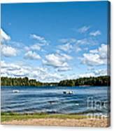 A Swim In The Lake Canvas Print