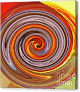 A Swirl Of Colors From The Sun And Earth Canvas Print