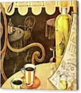 A Table At An Italian Cafe Canvas Print