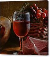 A Taste Of The Grape Canvas Print