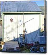 A Tool Shed In The Back Yard Canvas Print