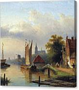 A Town By The River Canvas Print