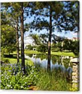 A Tranquil Pond At Walt Disney World Canvas Print