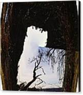 A Tree In A Square Abstract Canvas Print