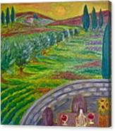 A Tuscan Balcony Canvas Print