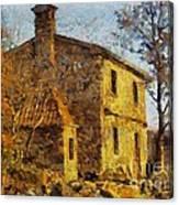 A Typical  Karstic House Canvas Print