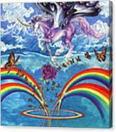 A Unicorn's Love Canvas Print