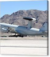 A U.s. Air Force E-3a Sentry Taking Canvas Print