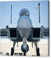 A U.s. Air Force F-15d Eagle Taxis Canvas Print