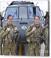A U.s. Army All Female Crew Canvas Print