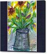 A Vase Of Rudbeckia  Canvas Print