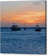 A View From A Catamaran2 - Aruba Canvas Print
