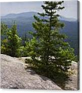 A View From A Mountain In A Vermont State Park Canvas Print