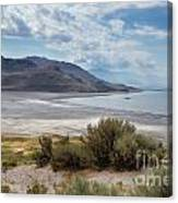 A View From Buffalo Point Of White Rock Bay Canvas Print