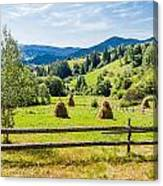 A View From Carpathians Canvas Print