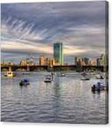 A View Of Back Bay - Boston Skyline Canvas Print